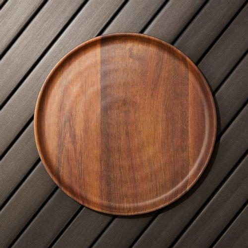 Wood-Grain-Melamine-Dinner-Plate