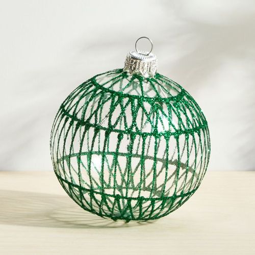 Esfera-de-Cristal-Verde-con-Glitter-Crate-and-Barrel