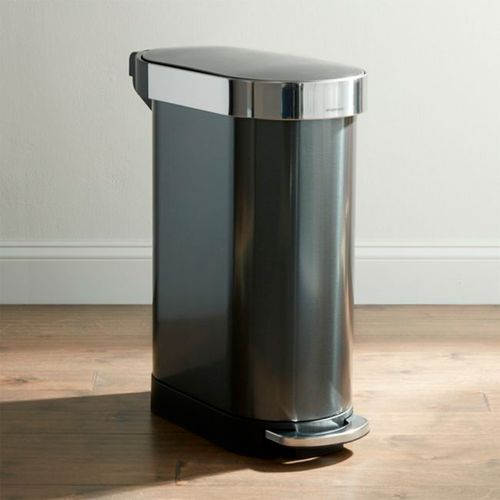 Bote-de-Basura-Simplehuman-Negro-45L-Crate-and-Barrel