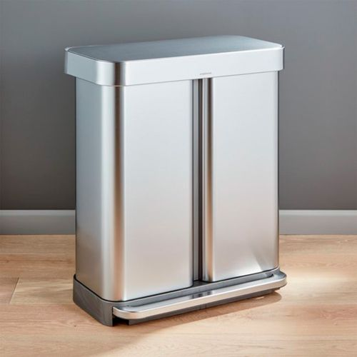 Bote-de-Basura-Doble-Simplehuman-Plateado-58L-Crate-and-Barrel