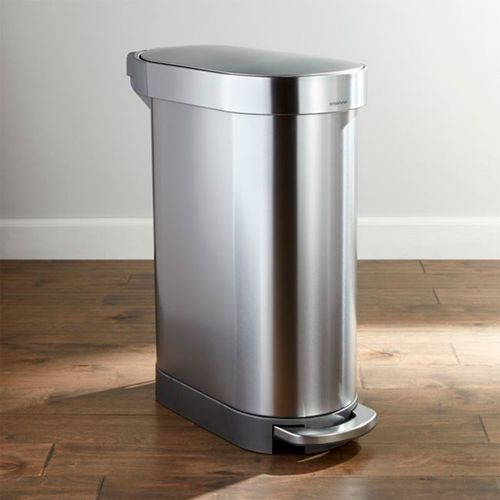 Bote-de-Basura-Simplehuman-Slim-Plateado-45L-Crate-and-Barrel