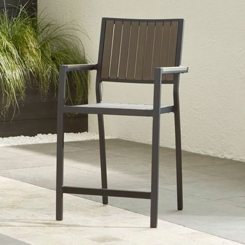 Silla-Alta-para-Exterior-Alfresco-Gris-Crate-and-Barrel