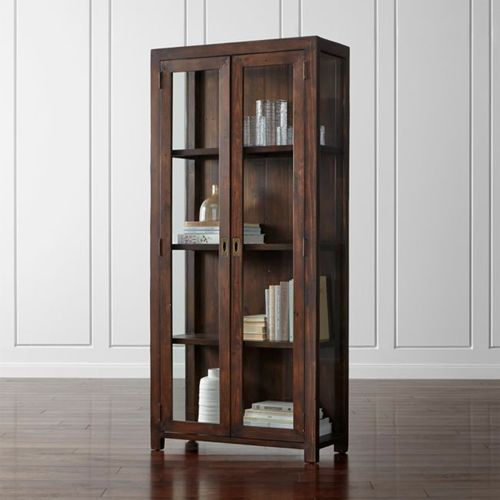 Morris-Chocolate-Brown-Bookcase-Crate-and-Barrel
