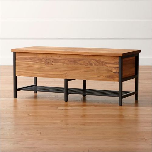 Teca-Storage-Trunk-Bench-Crate-and-Barrel