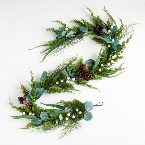 Frosted-White-Berry-Garland-Crate-Barrel